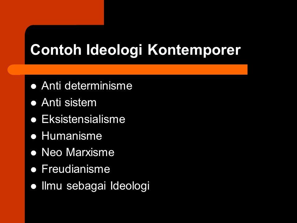 Contoh Ideologi Kontemporer