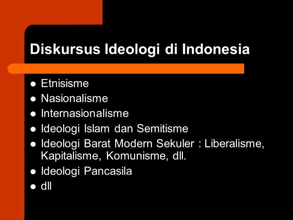 Diskursus Ideologi di Indonesia