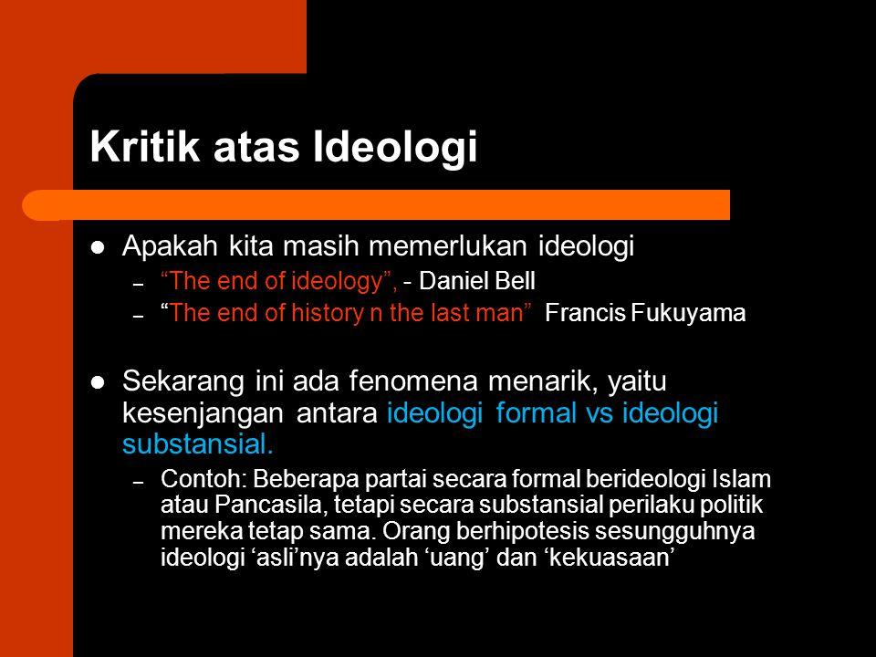 Kritik atas Ideologi Apakah kita masih memerlukan ideologi