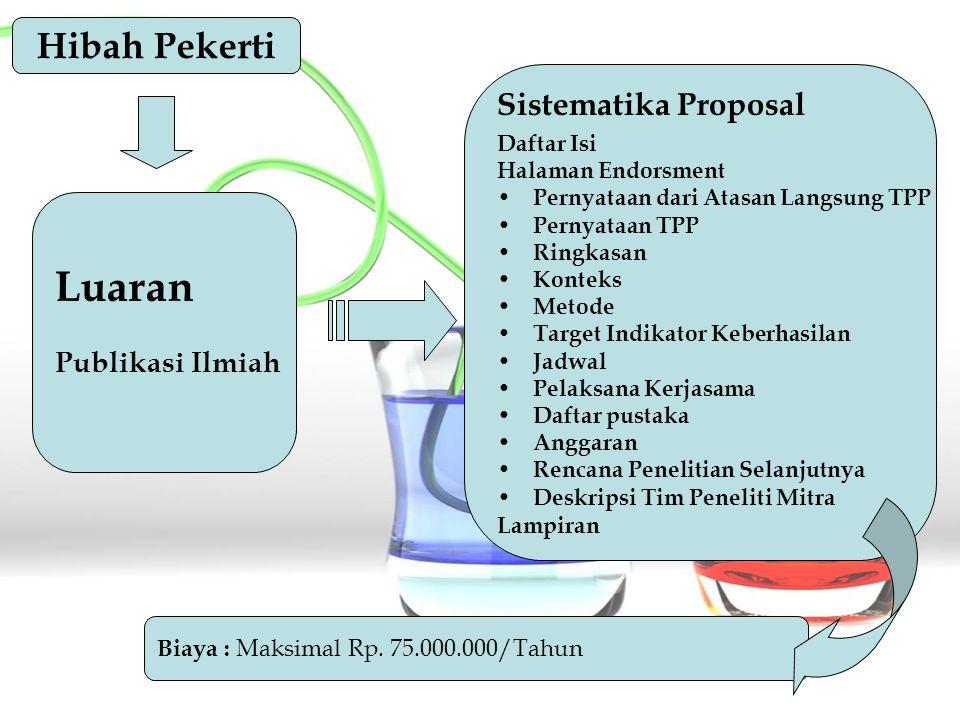 Luaran Hibah Pekerti Sistematika Proposal Publikasi Ilmiah