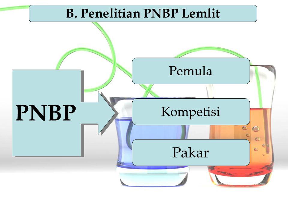 B. Penelitian PNBP Lemlit
