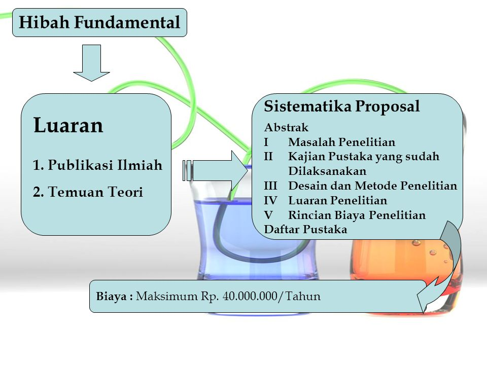 Luaran Hibah Fundamental Sistematika Proposal 1. Publikasi Ilmiah