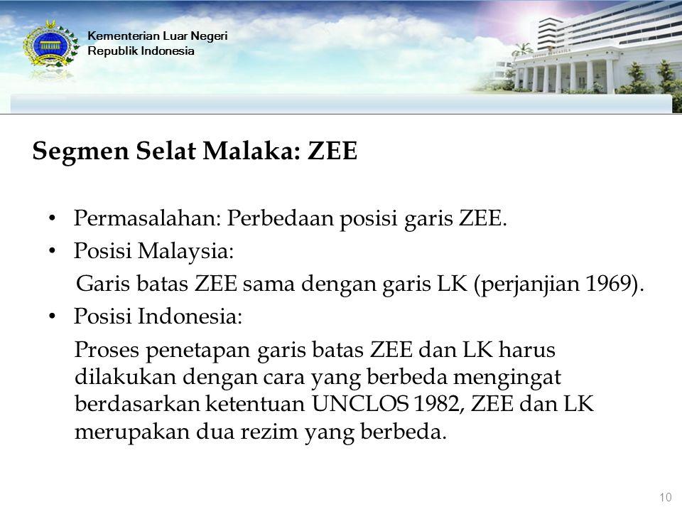 Segmen Selat Malaka: ZEE