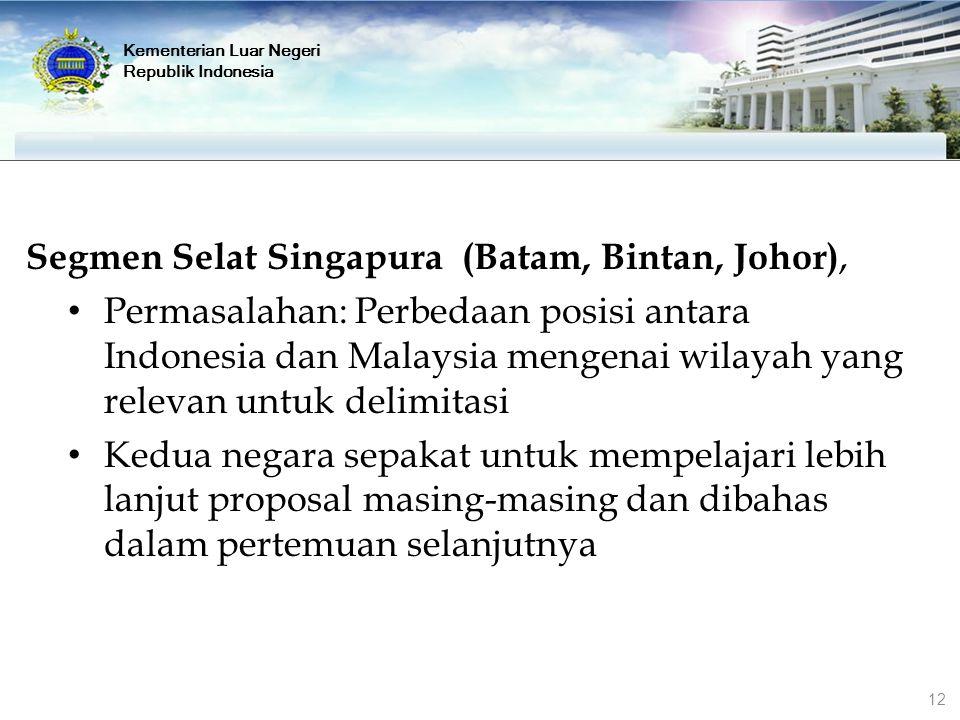 Segmen Selat Singapura (Batam, Bintan, Johor),