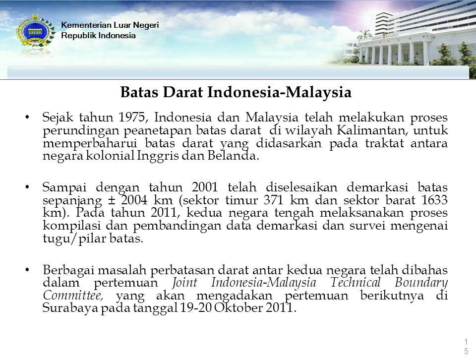 Batas Darat Indonesia-Malaysia