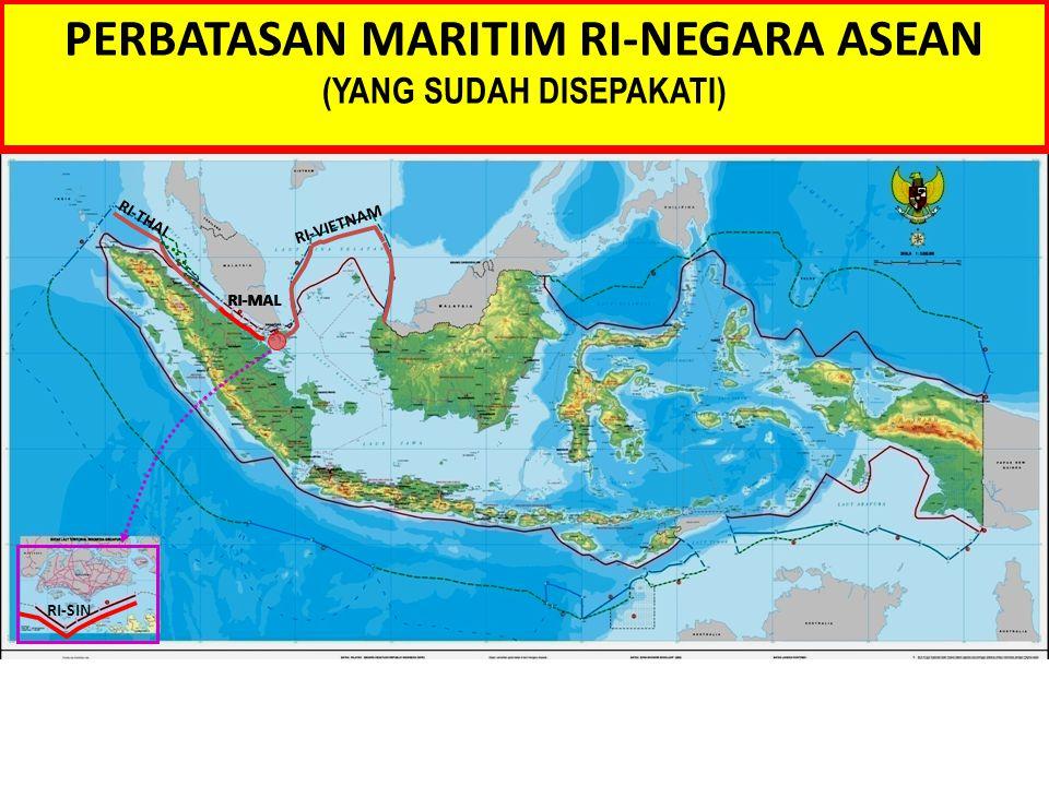 PERBATASAN MARITIM RI-NEGARA ASEAN (YANG SUDAH DISEPAKATI)