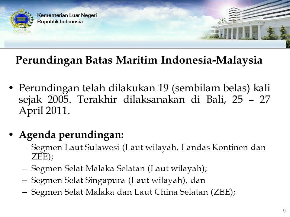 Perundingan Batas Maritim Indonesia-Malaysia