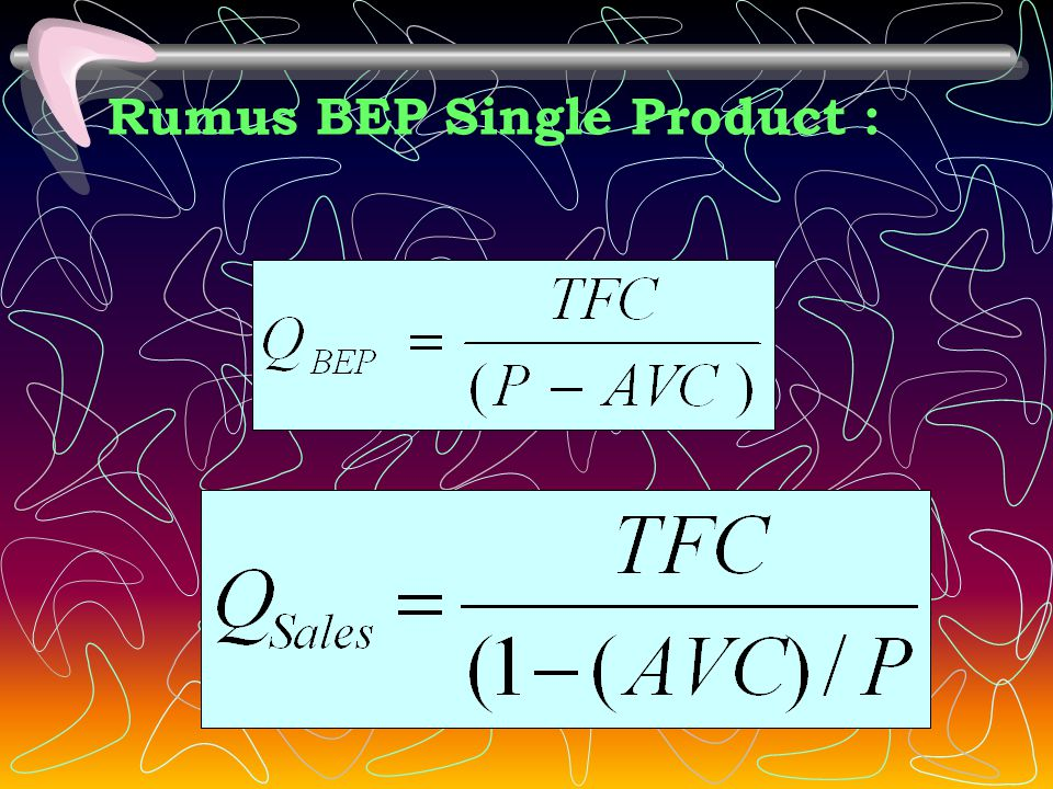 Rumus BEP Single Product :