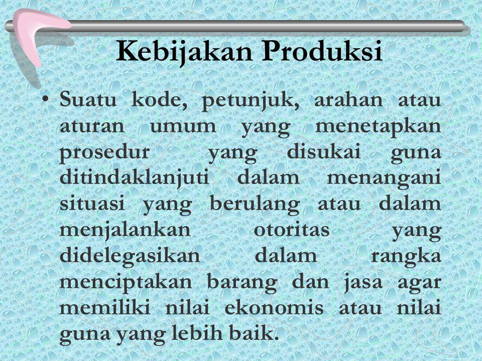 Kebijakan Produksi