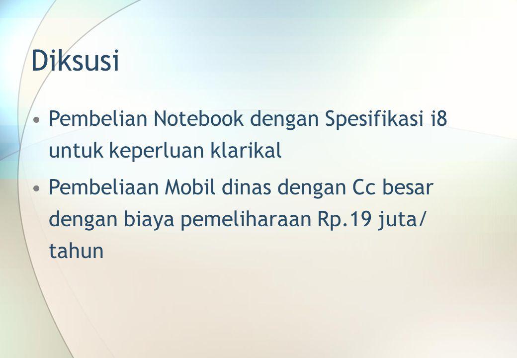 Diksusi Pembelian Notebook dengan Spesifikasi i8 untuk keperluan klarikal.
