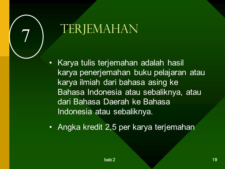 7 Terjemahan.