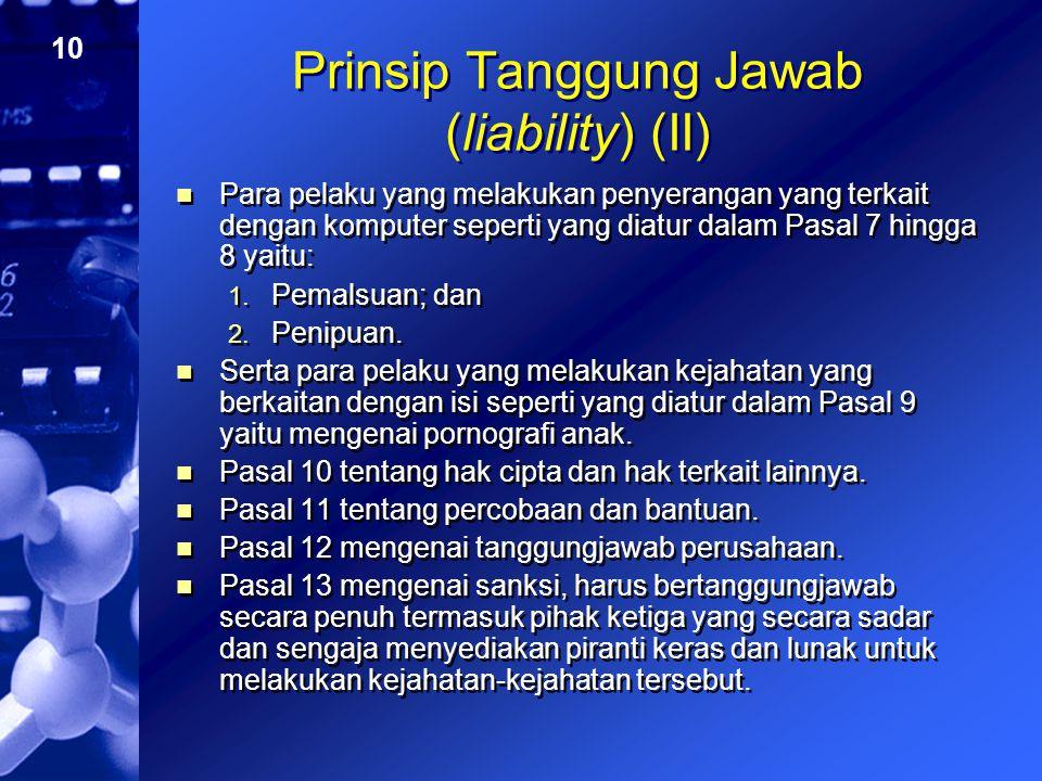 Prinsip Tanggung Jawab (liability) (II)