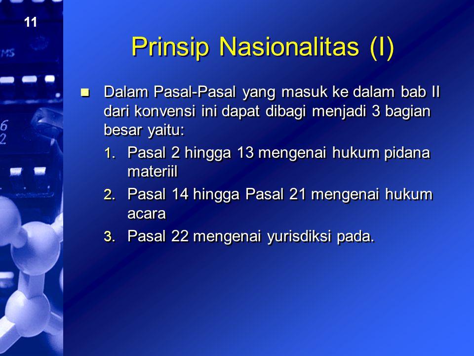 Prinsip Nasionalitas (I)