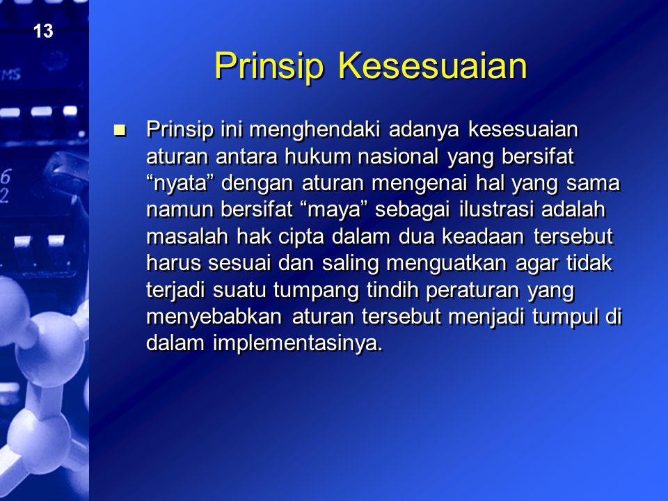 Prinsip Kesesuaian