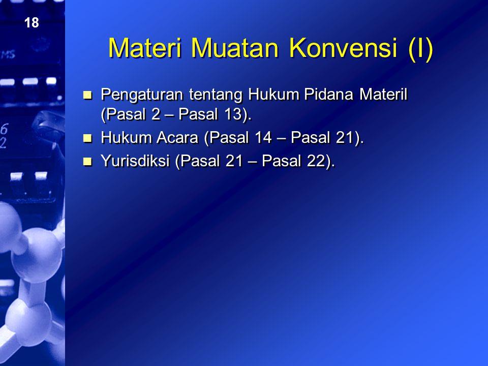 Materi Muatan Konvensi (I)