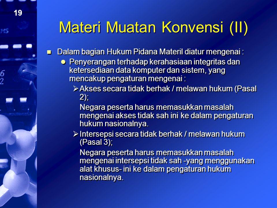 Materi Muatan Konvensi (II)