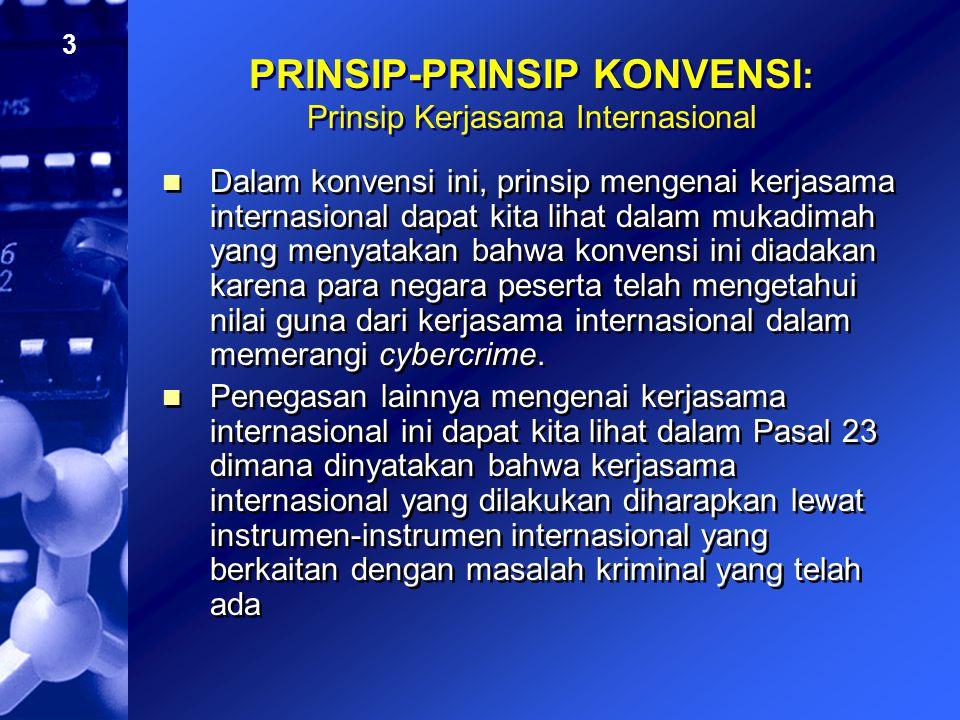 PRINSIP-PRINSIP KONVENSI: Prinsip Kerjasama Internasional