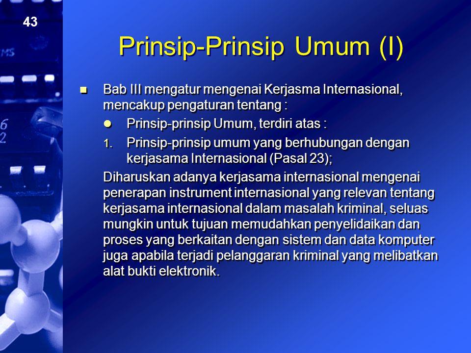 Prinsip-Prinsip Umum (I)