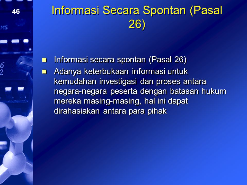 Informasi Secara Spontan (Pasal 26)