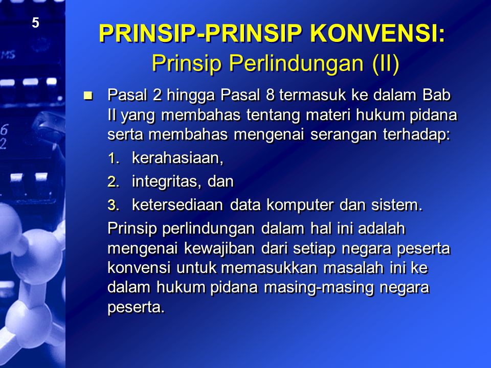 PRINSIP-PRINSIP KONVENSI: Prinsip Perlindungan (II)