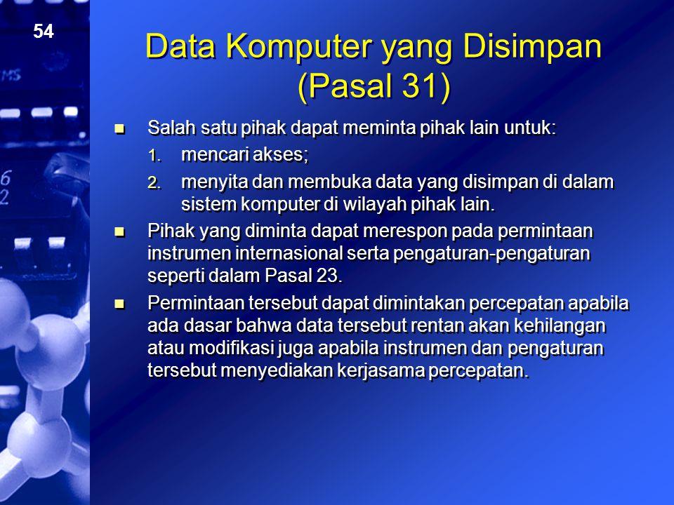 Data Komputer yang Disimpan (Pasal 31)