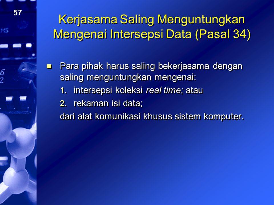 Kerjasama Saling Menguntungkan Mengenai Intersepsi Data (Pasal 34)