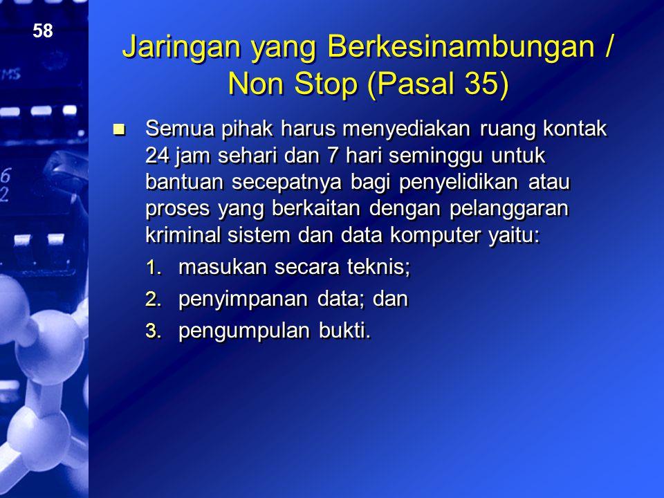 Jaringan yang Berkesinambungan / Non Stop (Pasal 35)