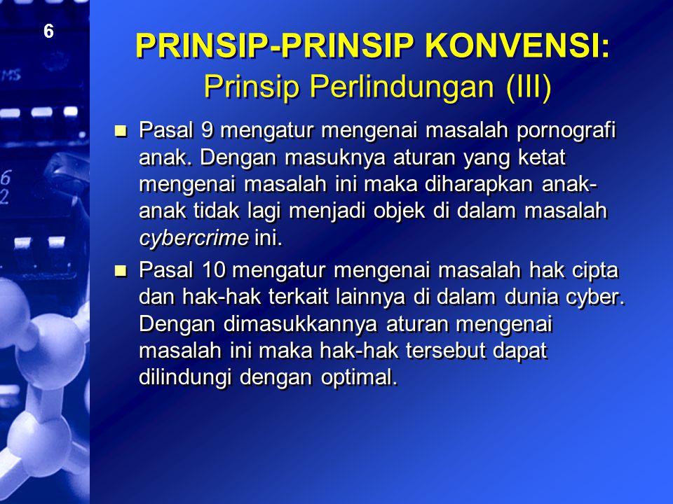 PRINSIP-PRINSIP KONVENSI: Prinsip Perlindungan (III)