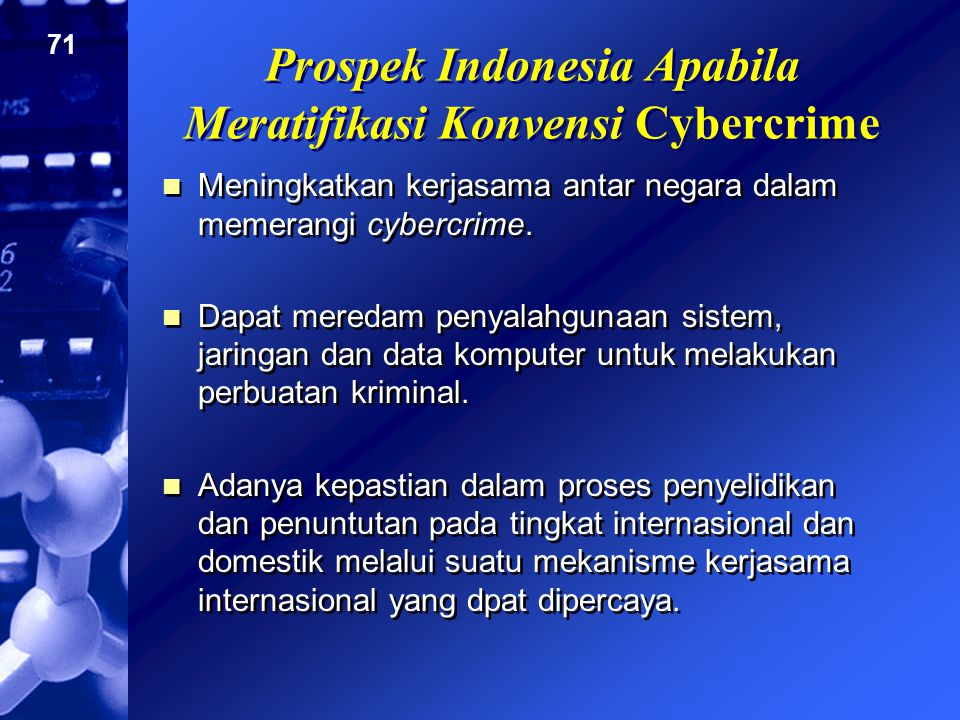 Prospek Indonesia Apabila Meratifikasi Konvensi Cybercrime
