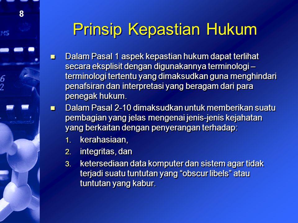 Prinsip Kepastian Hukum