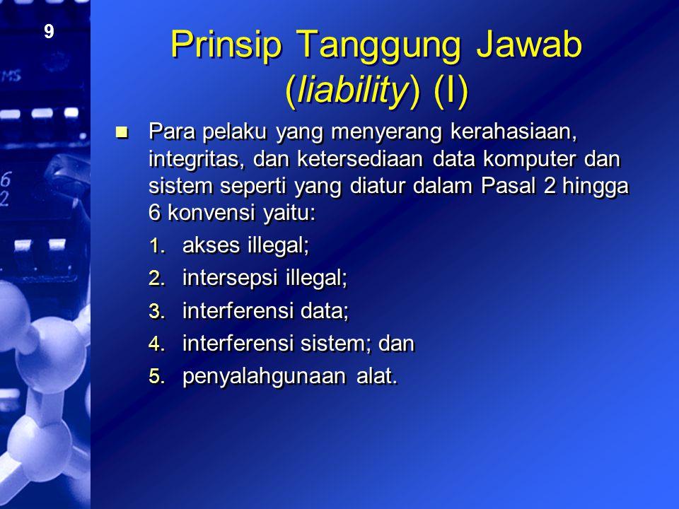 Prinsip Tanggung Jawab (liability) (I)