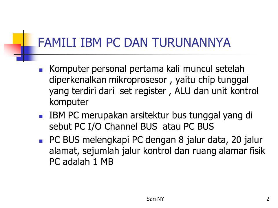 FAMILI IBM PC DAN TURUNANNYA