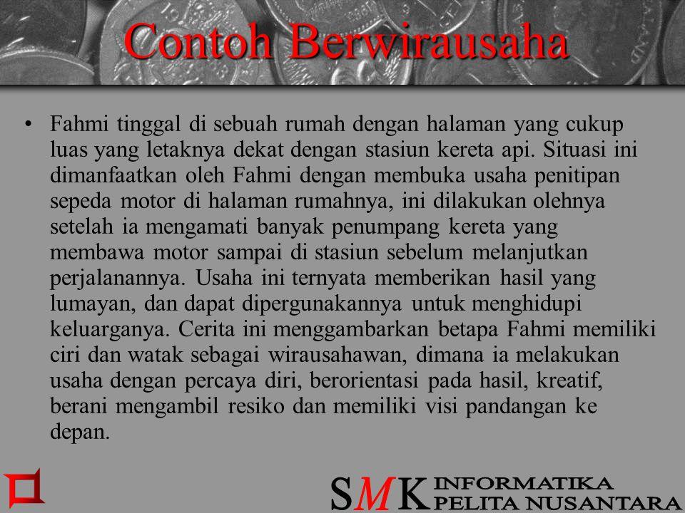 Contoh Berwirausaha S K M INFORMATIKA PELITA NUSANTARA