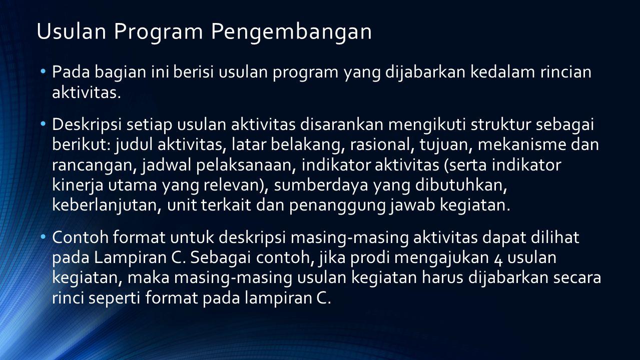 Usulan Program Pengembangan