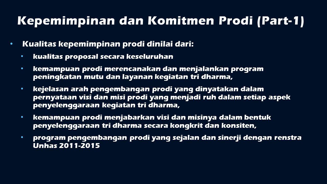 Kepemimpinan dan Komitmen Prodi (Part-1)