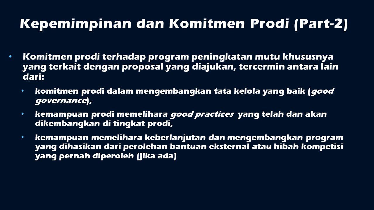 Kepemimpinan dan Komitmen Prodi (Part-2)