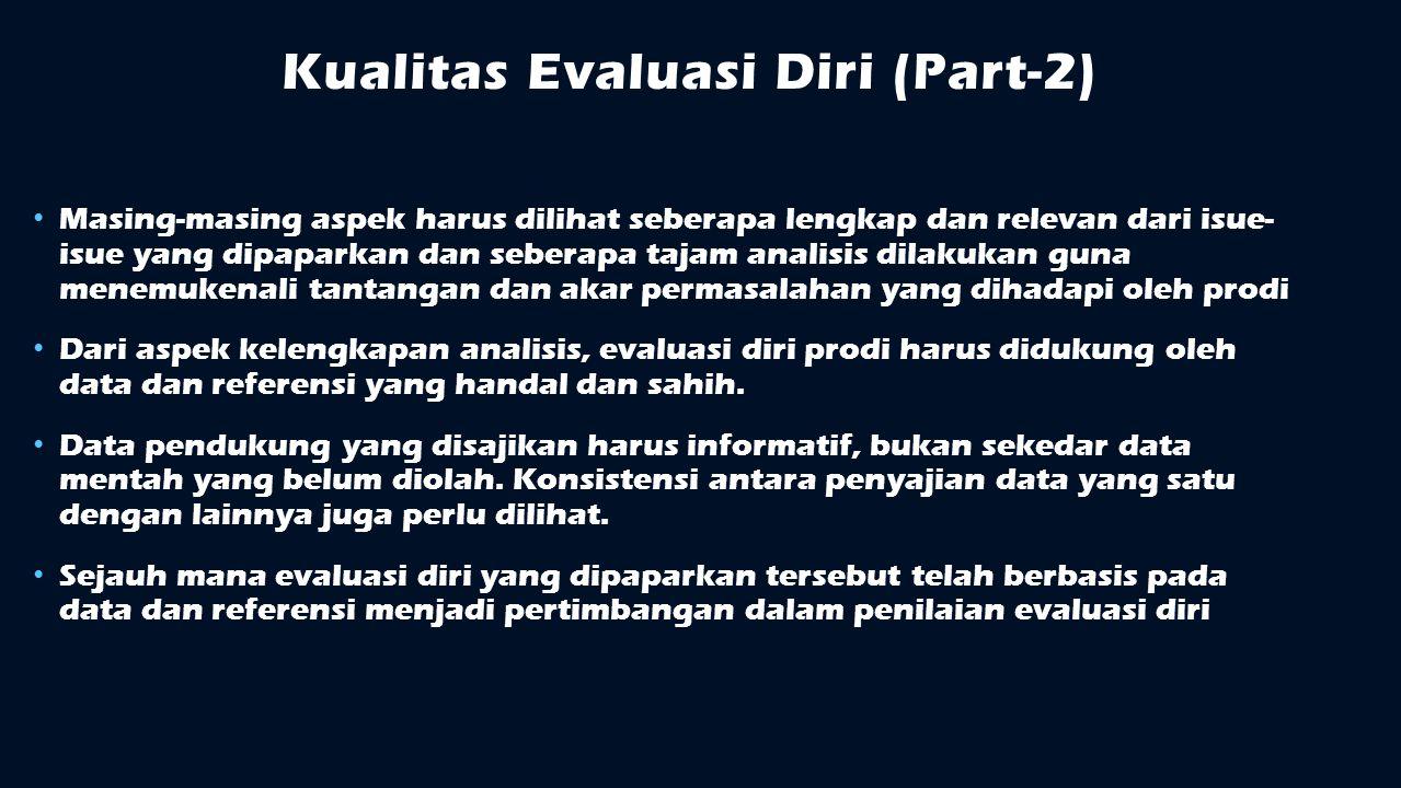 Kualitas Evaluasi Diri (Part-2)