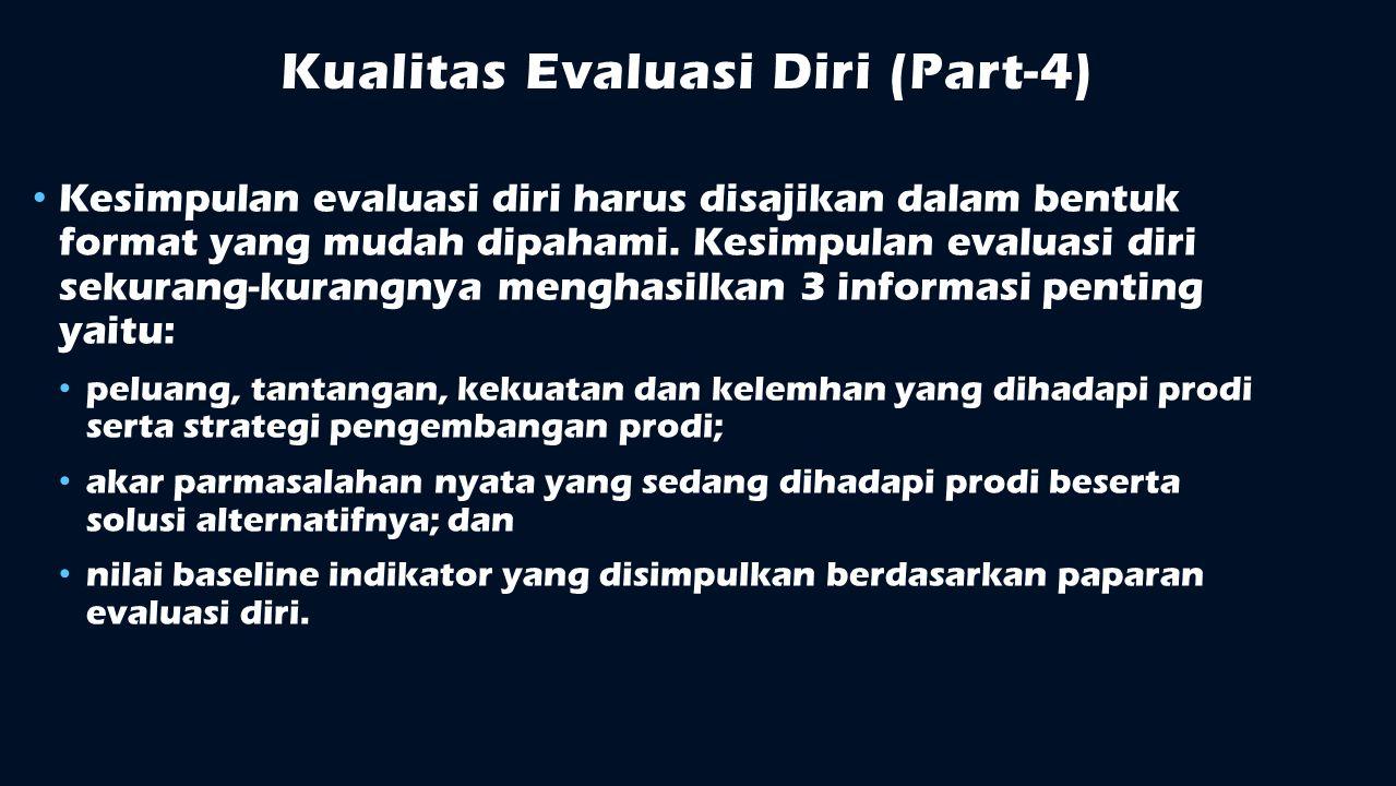 Kualitas Evaluasi Diri (Part-4)