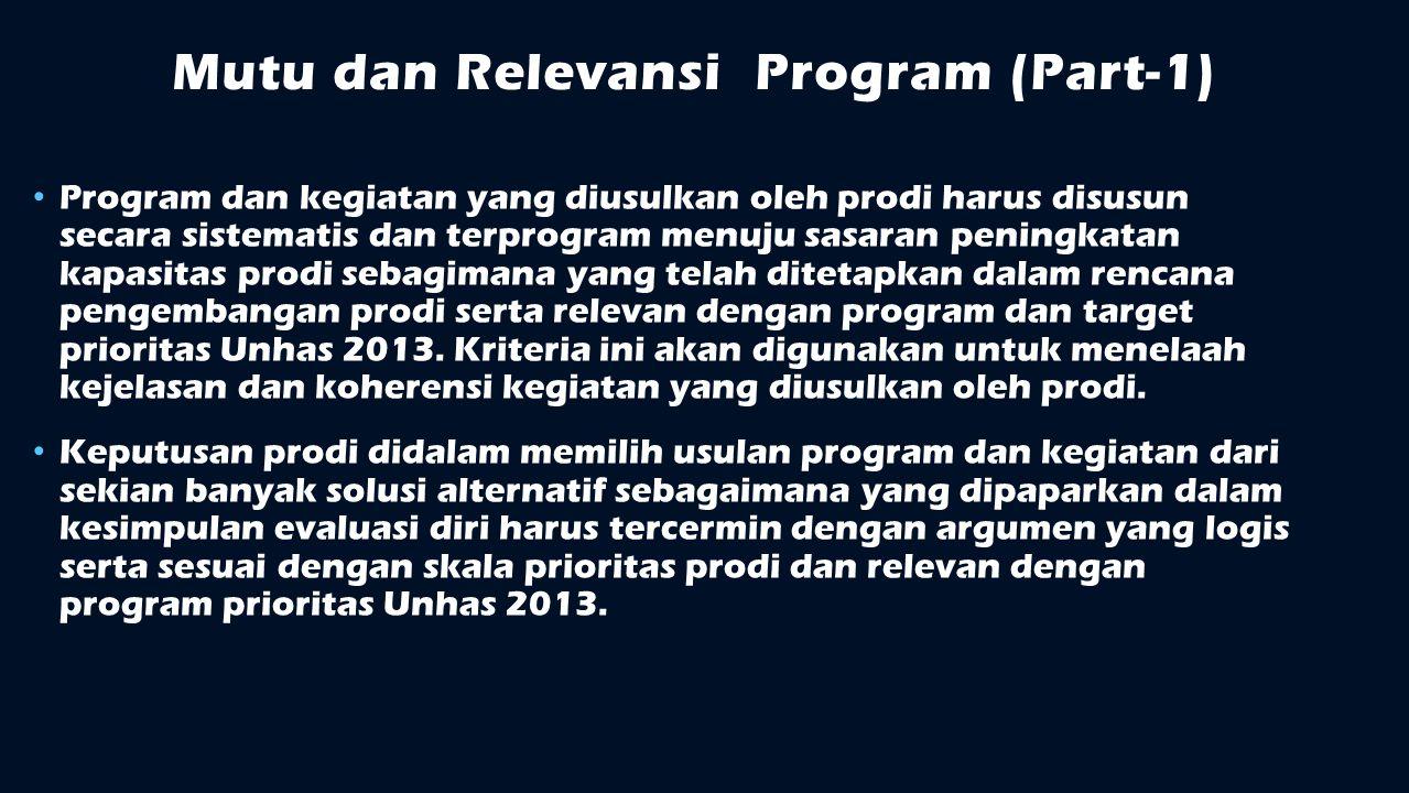 Mutu dan Relevansi Program (Part-1)