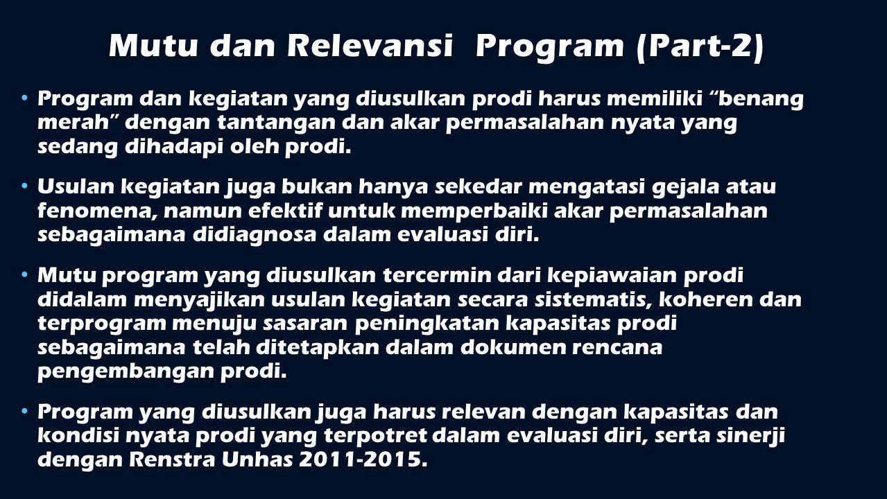 Mutu dan Relevansi Program (Part-2)