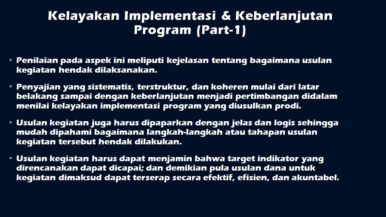 Kelayakan Implementasi & Keberlanjutan Program (Part-1)