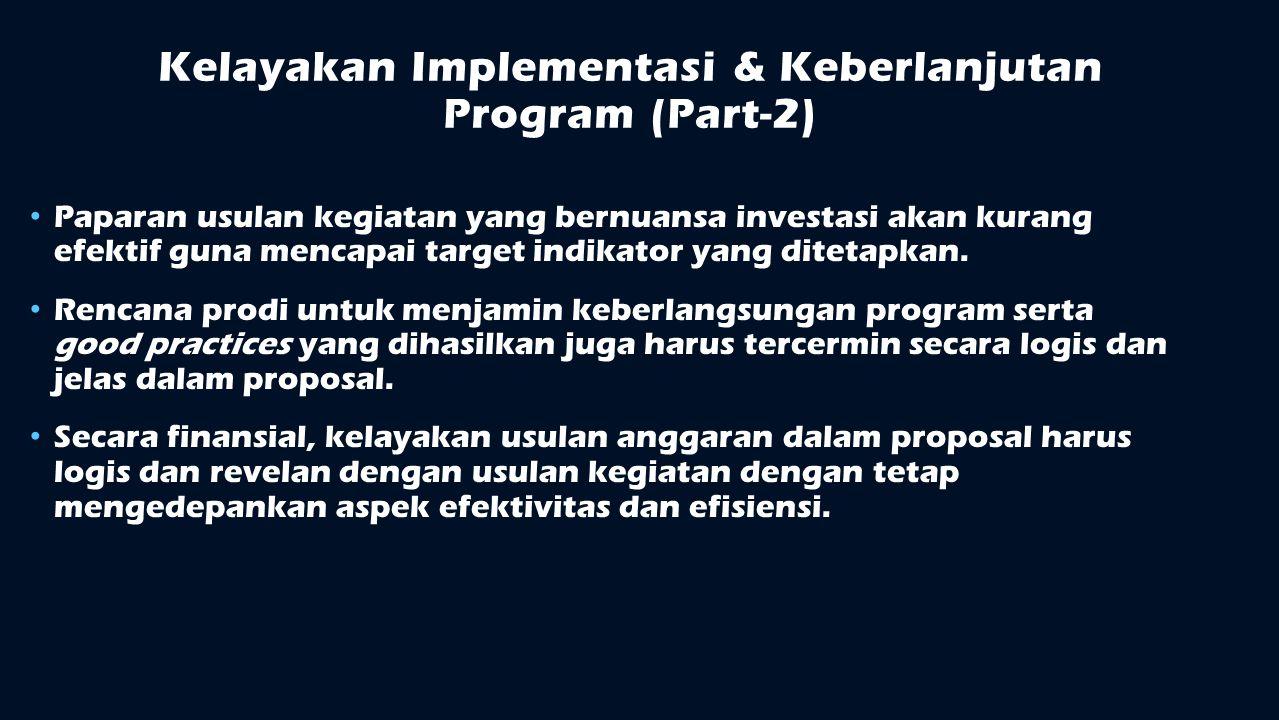 Kelayakan Implementasi & Keberlanjutan Program (Part-2)