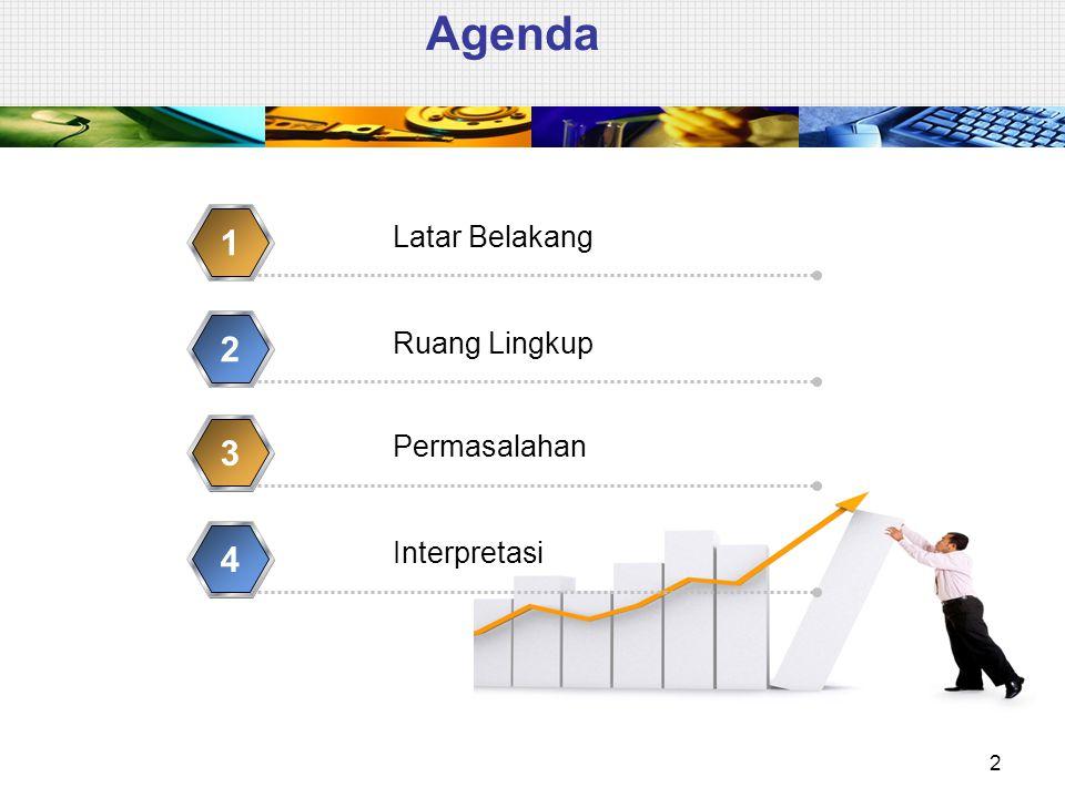 Agenda 1 2 3 4 Latar Belakang Ruang Lingkup Permasalahan Interpretasi