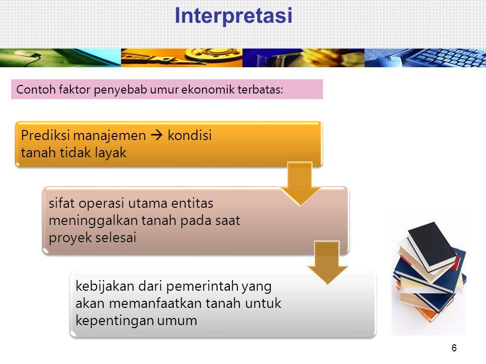 Interpretasi Prediksi manajemen  kondisi tanah tidak layak