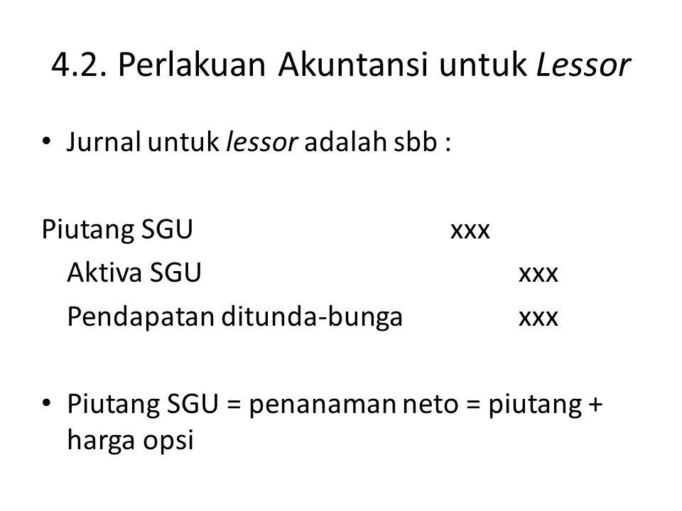 4.2. Perlakuan Akuntansi untuk Lessor