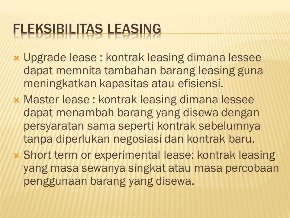 Fleksibilitas Leasing