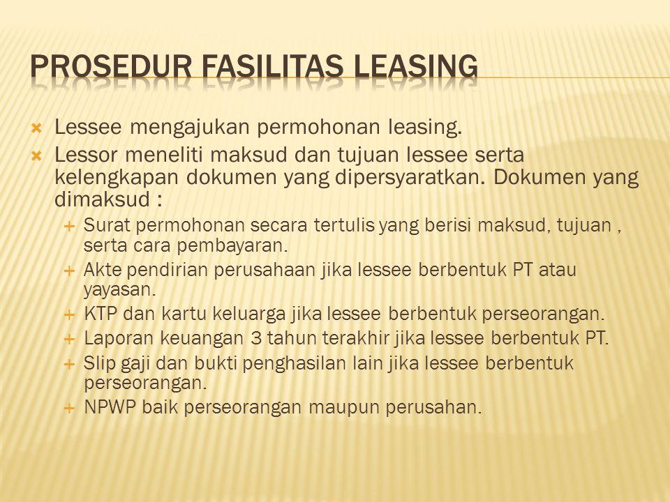 Prosedur Fasilitas Leasing