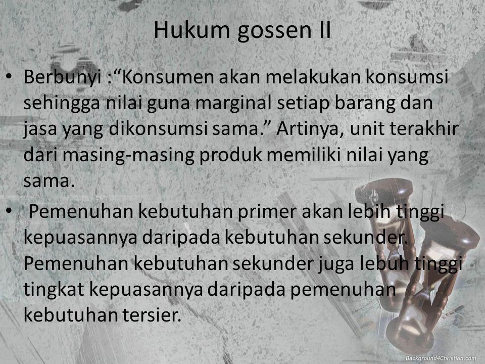 Hukum gossen II