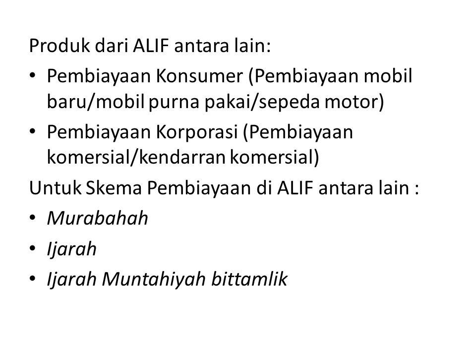 Produk dari ALIF antara lain: