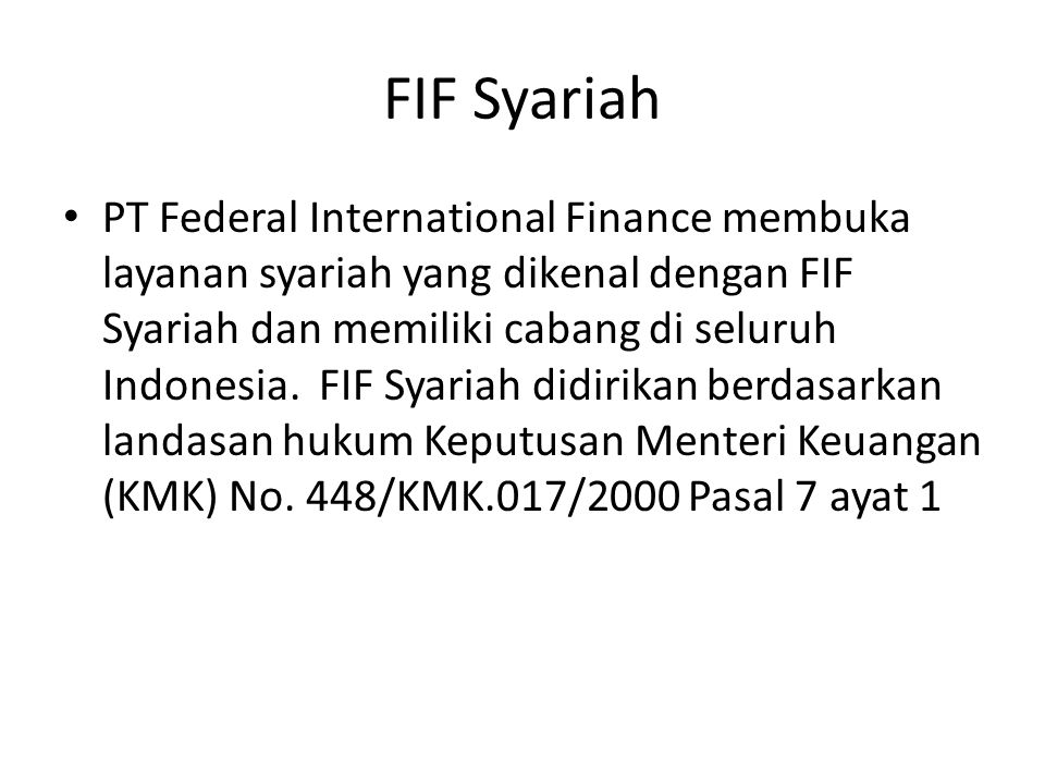 FIF Syariah